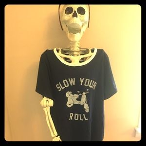 Old Navy Top; Slow your Roll- Size Large